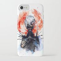 tokyo ghoul iPhone & iPod Cases featuring Tokyo Ghoul - Kaneki Ken by Kayla Phan