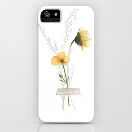 Buttercup Pressed Flower iPhone Case