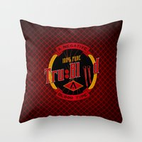true blood Throw Pillows featuring TRUE BLOOD by BeautyArtGalery