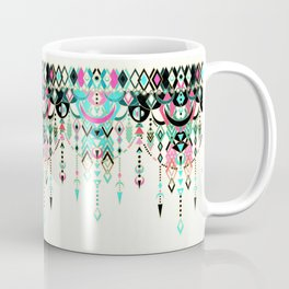 Modern Deco in Pink and Turquoise Coffee Mug