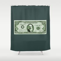 monet Shower Curtains featuring Check the Monet by Thomas Orrow