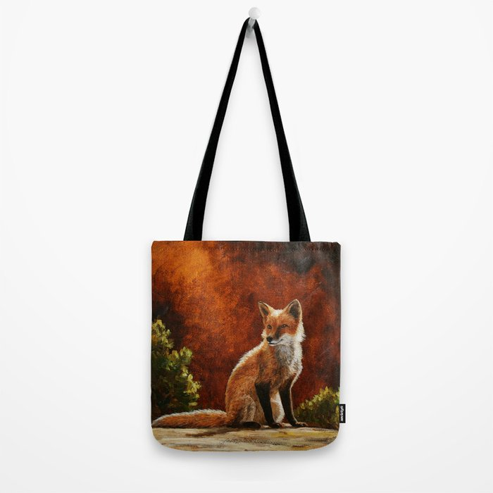 Red Fox in the Sun Tote Bag