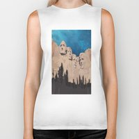 rushmore Biker Tanks featuring Night Mountains No. 15 by Bakmann Art