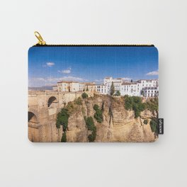 Puente Nuevo stone bridge and Pueblos Blancos in mountaintop town of Ronda in Spain Carry-All Pouch