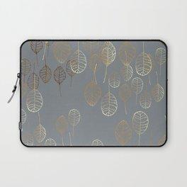 Golden Leaves - Gray Laptop Sleeve