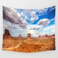 utah Wall Tapestries featuring Four Corners Utah Desert Landscape by Barrier Style & Design