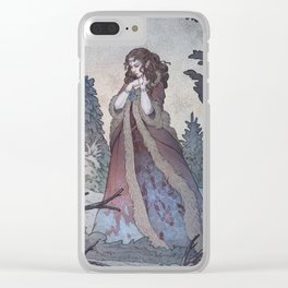Lady Frost Clear iPhone Case