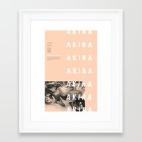 akira Framed Art Prints featuring Akira by hana prints