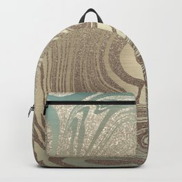 Mermaid Gold Wave Backpack