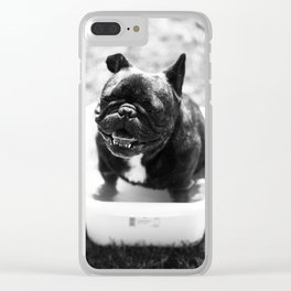 French bulldog Clear iPhone Case
