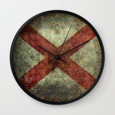 Alabama state flag Wall Clock