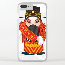 Beijing Opera Character FuXing Clear iPhone Case