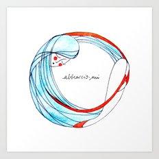 AbbraccioMi // Hugging Myself Art Print