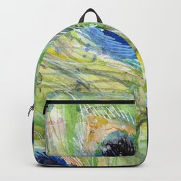 Peacock Watercolor Painting | Exotic Birds Backpack