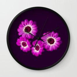 Beautiful Cineraria - Oil Paint Texture Wall Clock