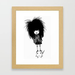 Friendship and Lightning Framed Art Print