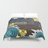 hogwarts Duvet Covers featuring Hogwarts by Lacey Simpson