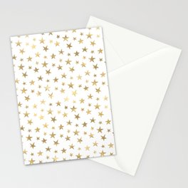 Gold Stars Stationery Cards