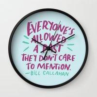 bill Wall Clocks featuring Bill Callahan by Josh LaFayette