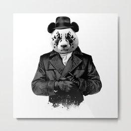 Rorschach Panda Metal Print