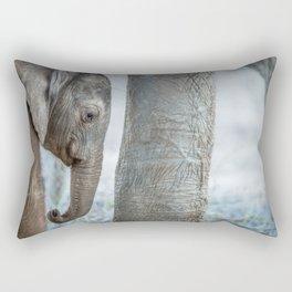 Sleepy baby Elephant Rectangular Pillow