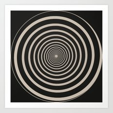 Spiral Clock Centre Art Print