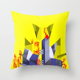 Impossible Architecture  Throw Pillow