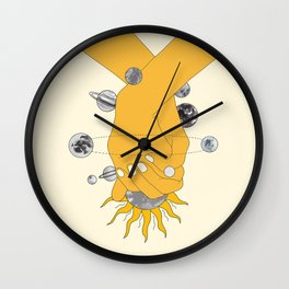 Everything Revolves Around Us Wall Clock