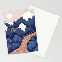 The twisting river in the mountains Stationery Cards