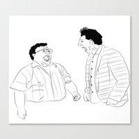 seinfeld Canvas Prints featuring Seinfeld by visualinterpreter