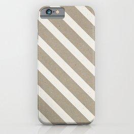 Paper texture (Kraft&White stripe) iPhone Case