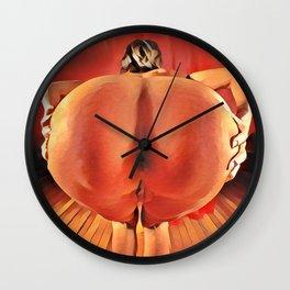 3539-LB Full Moon in My Studio - Bare Ass Close Up Wall Clock