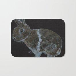 Rescued dwarf rabbit Bath Mat