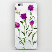 freud iPhone & iPod Skins featuring You Know What Freud Said About Carnations by Kate Havekost Fine Art
