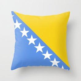 Flag of Bosnia and Herzegovina Throw Pillow