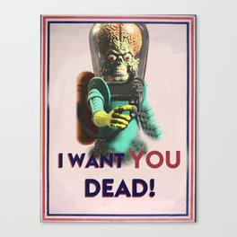 Mars Attacks Want YOU Canvas Print