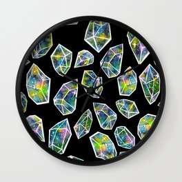 Cosmic Crystals Wall Clock