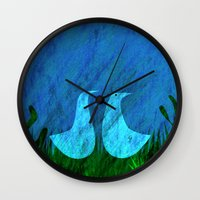 lovers Wall Clocks featuring Lovers by Inmyfantasia