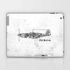 North American P51 Mustang (black) Laptop & iPad Skin