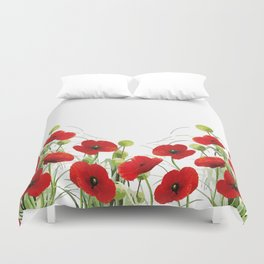 Poppy Mohn Flower Field Duvet Cover