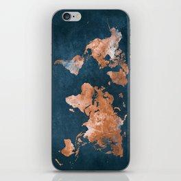 world map 15 iPhone Skin