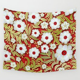 Art Flowers V3 Wall Tapestry