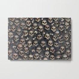 Skull Rug 4x6 Metal Print