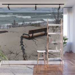 Beached Bench Wall Mural