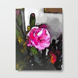 Flower of Pink with Burgundy Buds Metal Print