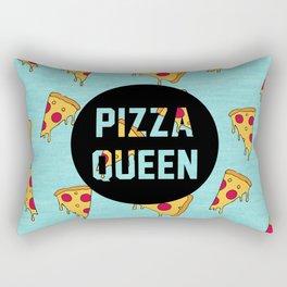 Pizza Queen - Blue Rectangular Pillow