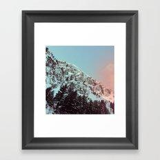 mountain ledge Framed Art Print