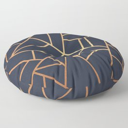 Copper and Midnight Navy Floor Pillow