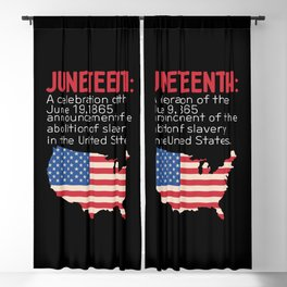 Juneteenth African American Freedom Day Blackout Curtain