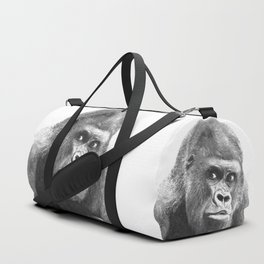 Black and White Gorilla Duffle Bag